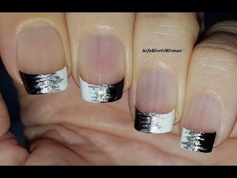 french manicure ideas 11 / elegant black  white nail