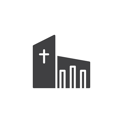Church Building Vector Icon Filled Flat Sign For Mobile Concept And Building Church Concept Filled Fla Church Building Architecture Images Vector Icons