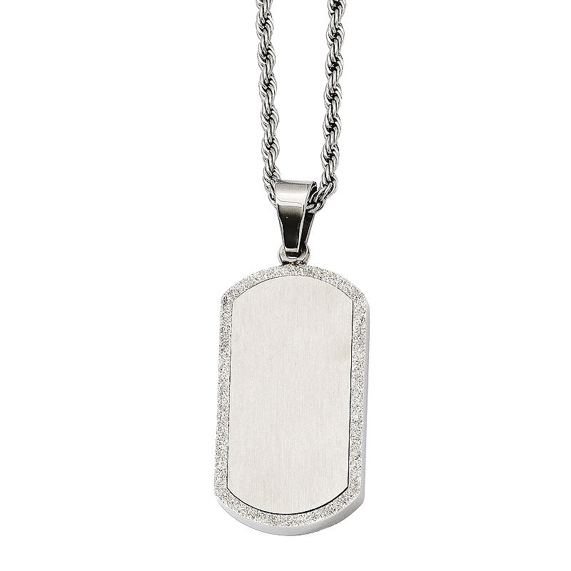 534f8e5ce Mens Stainless Steel Dog Tag Pendant | Products | Mens dog tag ...