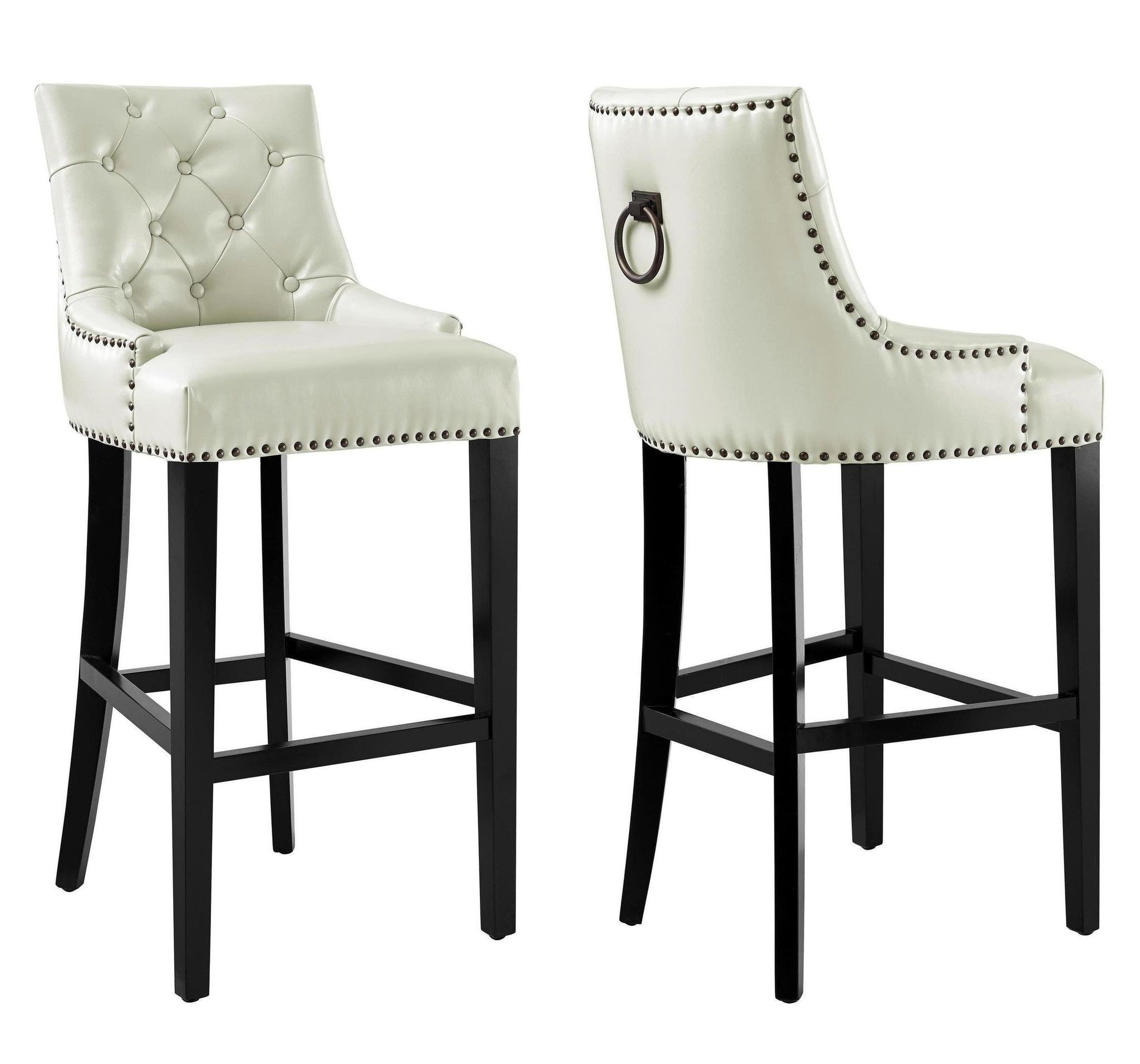 Pleasant Uptown Cream Leather Barstool Leather Counter Stools Ibusinesslaw Wood Chair Design Ideas Ibusinesslaworg