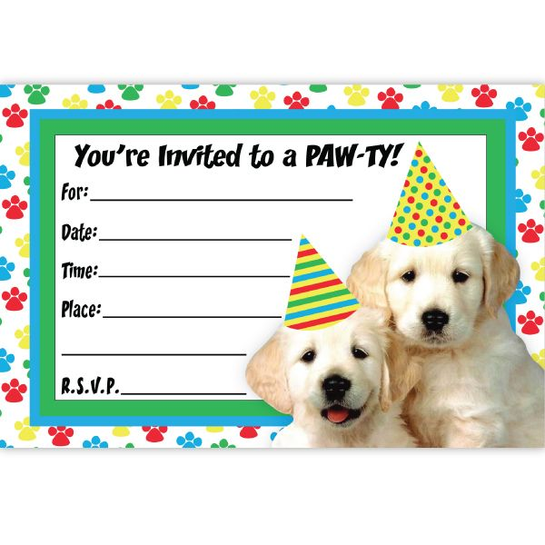 Create Puppy Birthday Invitations Templates Astounding Appearance