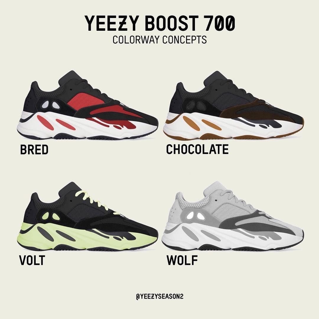 yeezy 700 all colorways