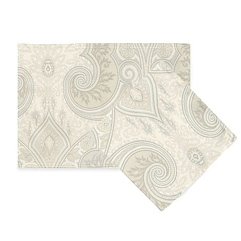 Echo Design Juneau Placemat And Napkin In Grey Placemats Design Table Accessories