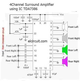 Making Surround Amplifier TDA7386 4 Channel in 2019