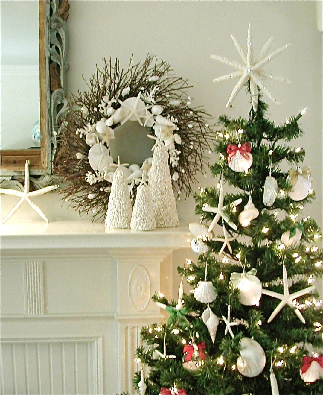 Hawaiian Christmas Tree Topper: Triple Starfish Tree Topper