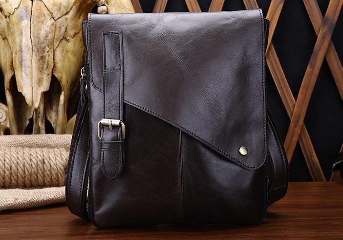 Cool Leather Mens Small Side Bag Messenger Bag Shoulder Bag for Men –  iChainWallets 4b97b0d32c4d4