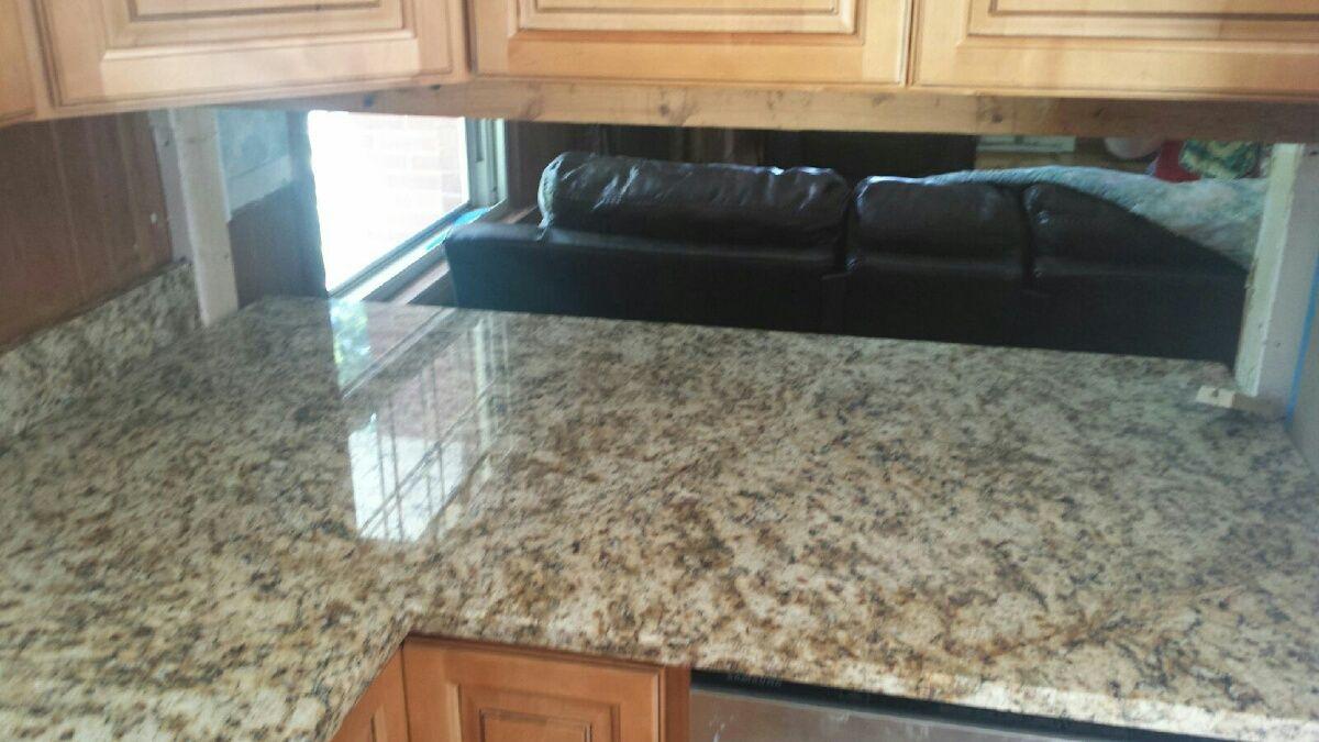 Giallo Napoli Granite Kitchen Countertop Install For The Linkous Family.  Knoxvilleu0027s Stone Interiors. Showroom