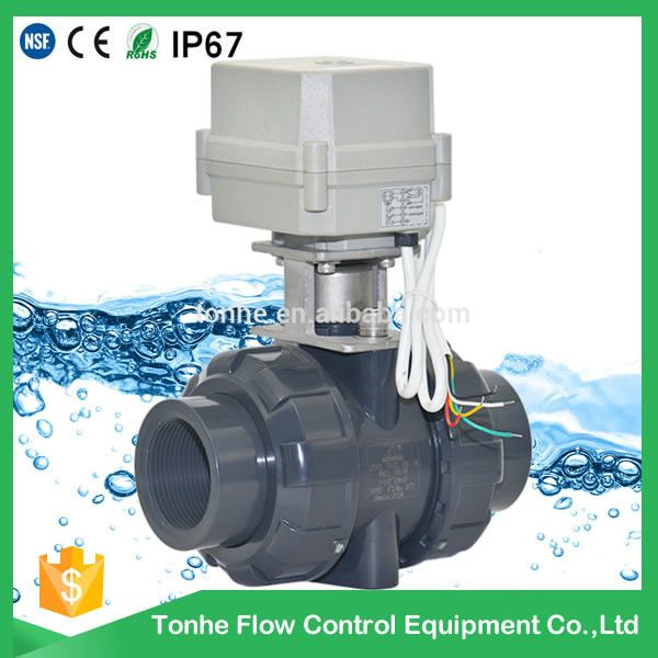 Ce Rosh 1 1 2 Inch Motorized Pvc Electric Actuator Ball Valve High Quality View Motorized Pvc Ball Valve Tonhe Product Details From Ta Valve Electricity Pvc