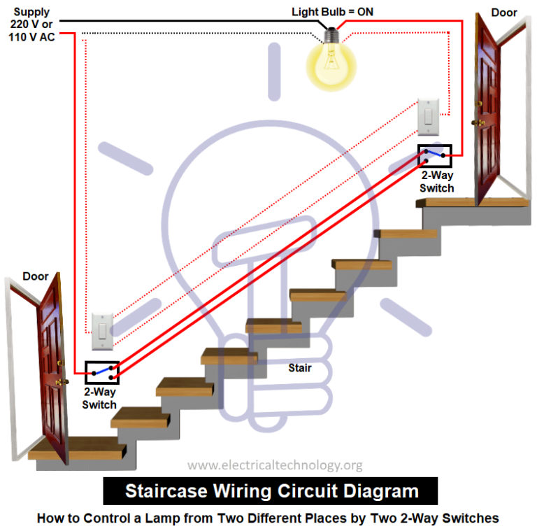 Staircase Wiring Circuit Diagram How to Control a lamp