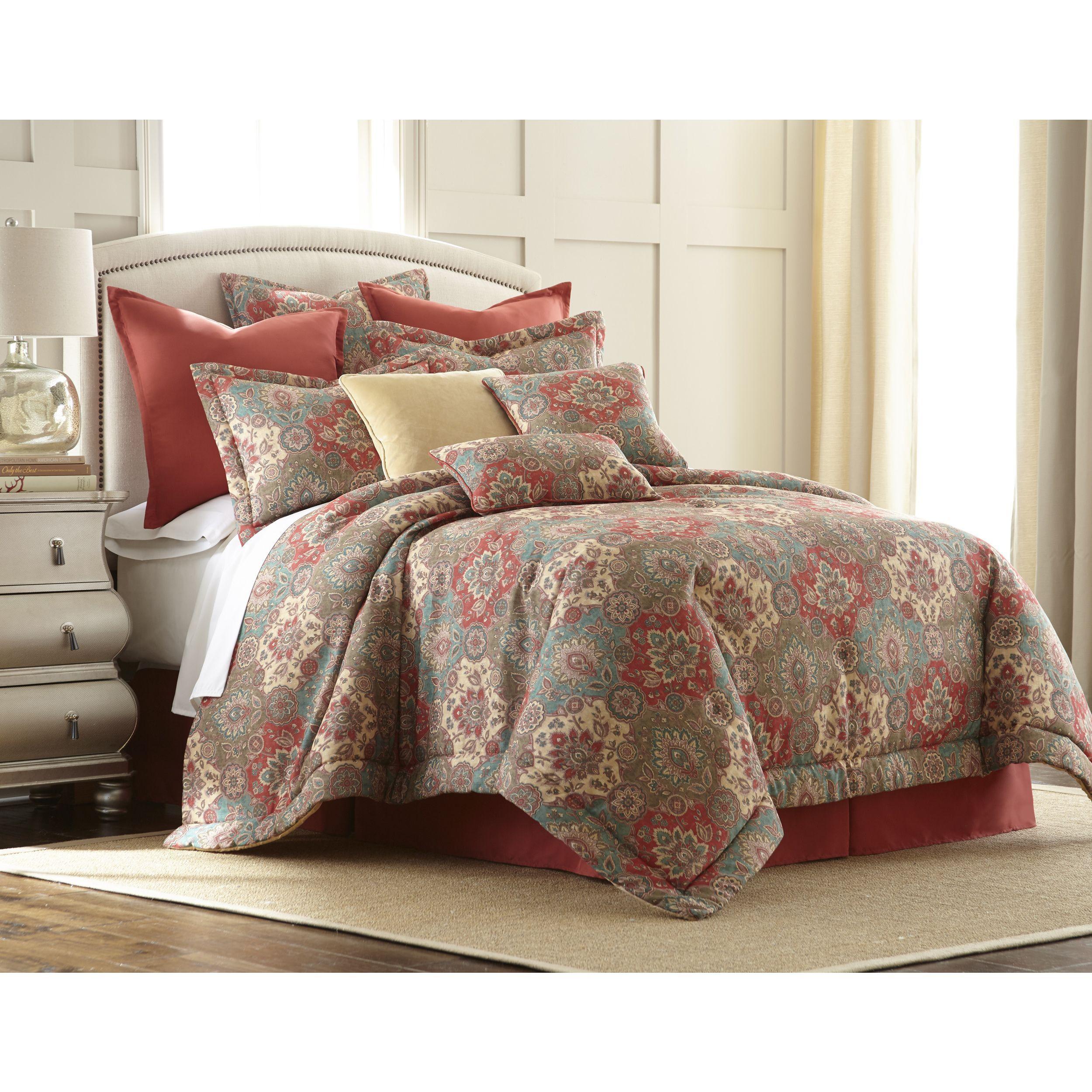 Sherry Kline Aladdin 4-piece Comforter Set (Queen), Red crimson ...