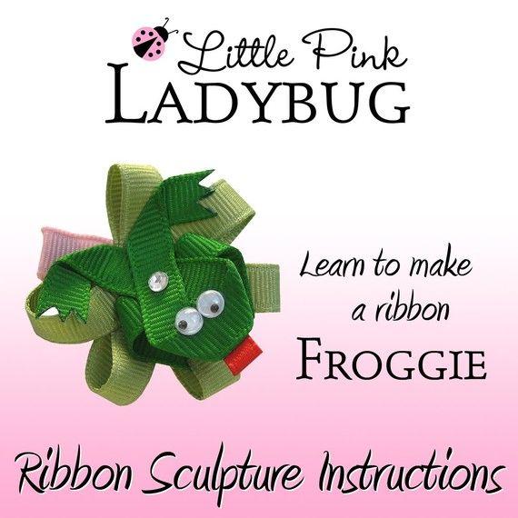 Frog Ribbon Sculpture Hair Clip