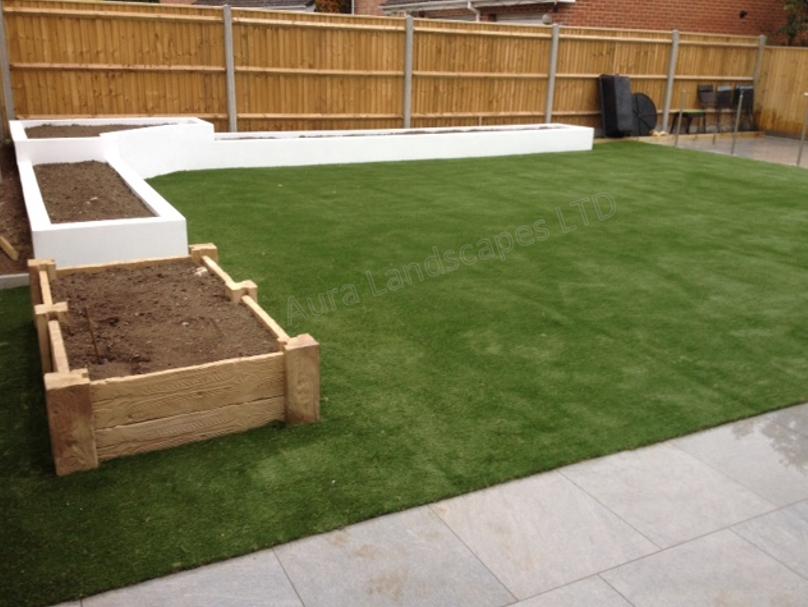 The Finished Project! #landscaping #garden #artificialgrass #Namgrass #AuraArtificialGrass