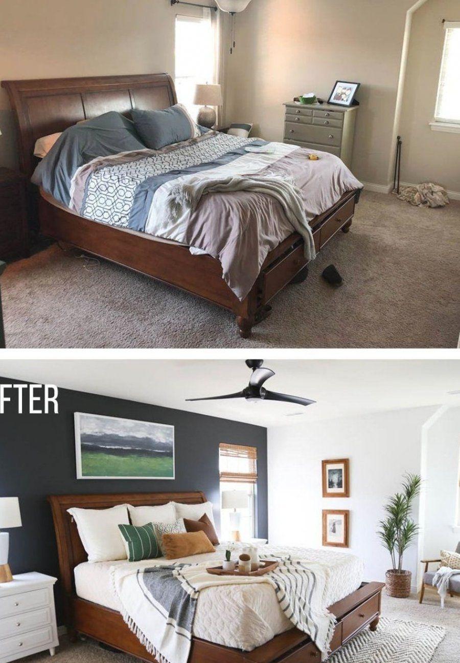 44 herrliche Schlafzimmer-Design-Ideen mit dunkler Wand  die die Monotonie durchbricht  herrliche  s...