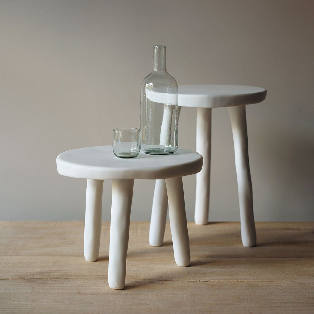 White resin side tables Townhouse Vignettes and Interiors