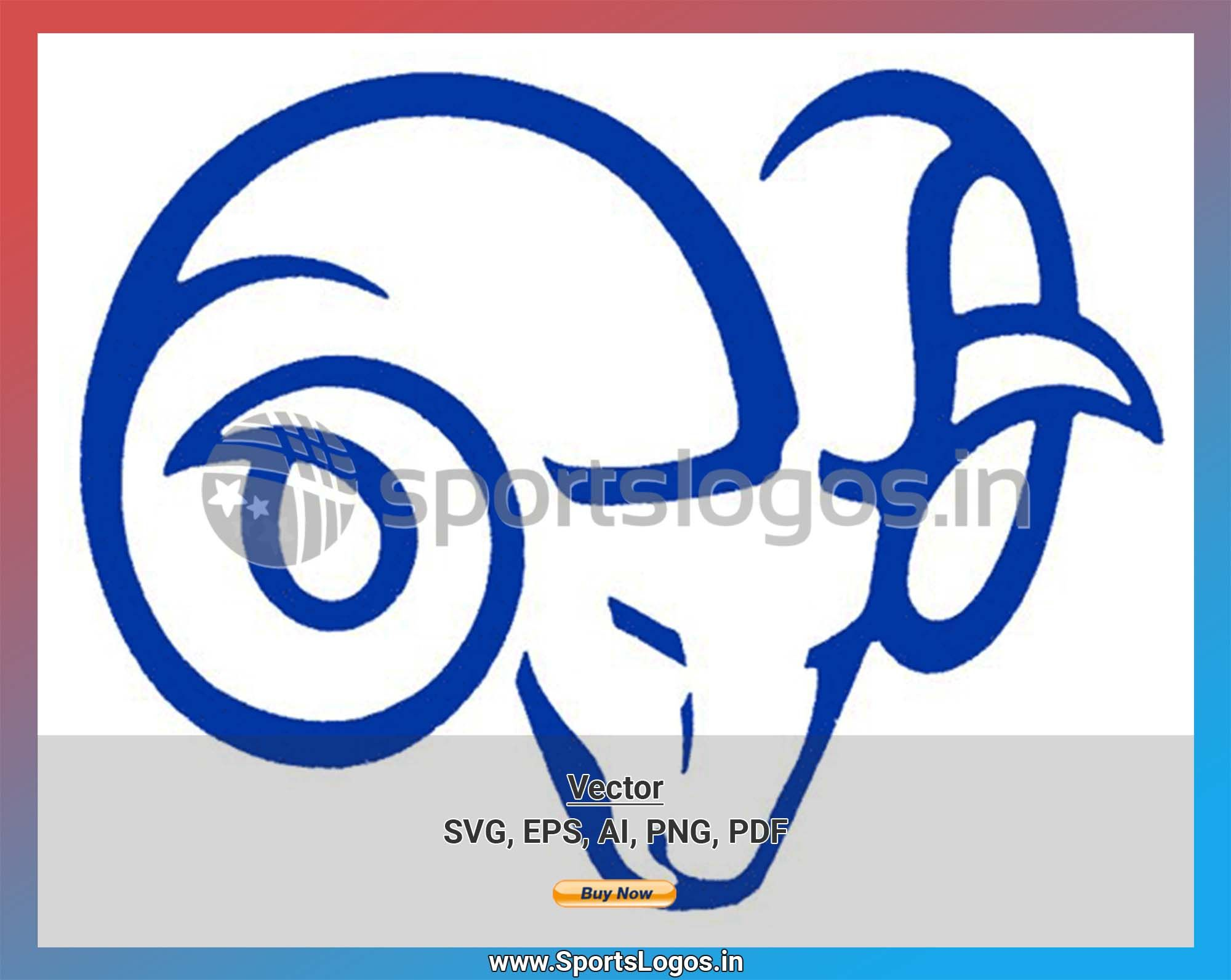 Ryerson Rams College Sports Vector SVG Logo in 5 formats