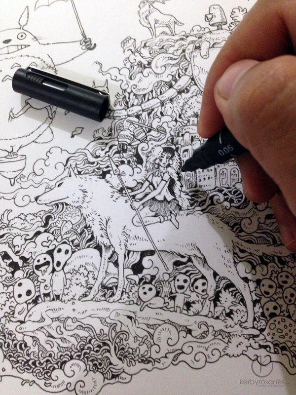 Hayao Miyazaki Doodle Tribute By Kerby Rosanes Via Behance Merchantcircle Business MegaStarMediaIncRenoNV775 850 5821 Review Readcid