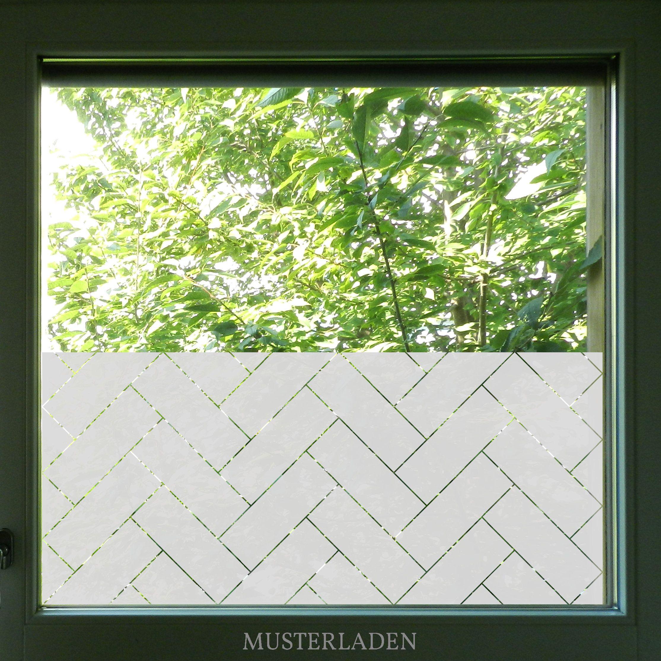 Herringbone Window Film Geometric Privacy Film Decorative Etsy Window Film Window Film Designs Window Privacy