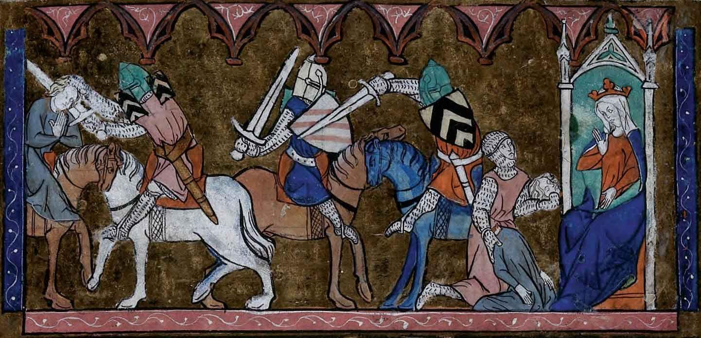 Lancelot est au service de sa ma tresse la reine - Lancelot chevalier de la table ronde ...