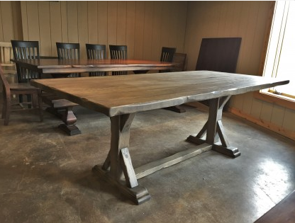 classic pedestal table designed by Rustic
