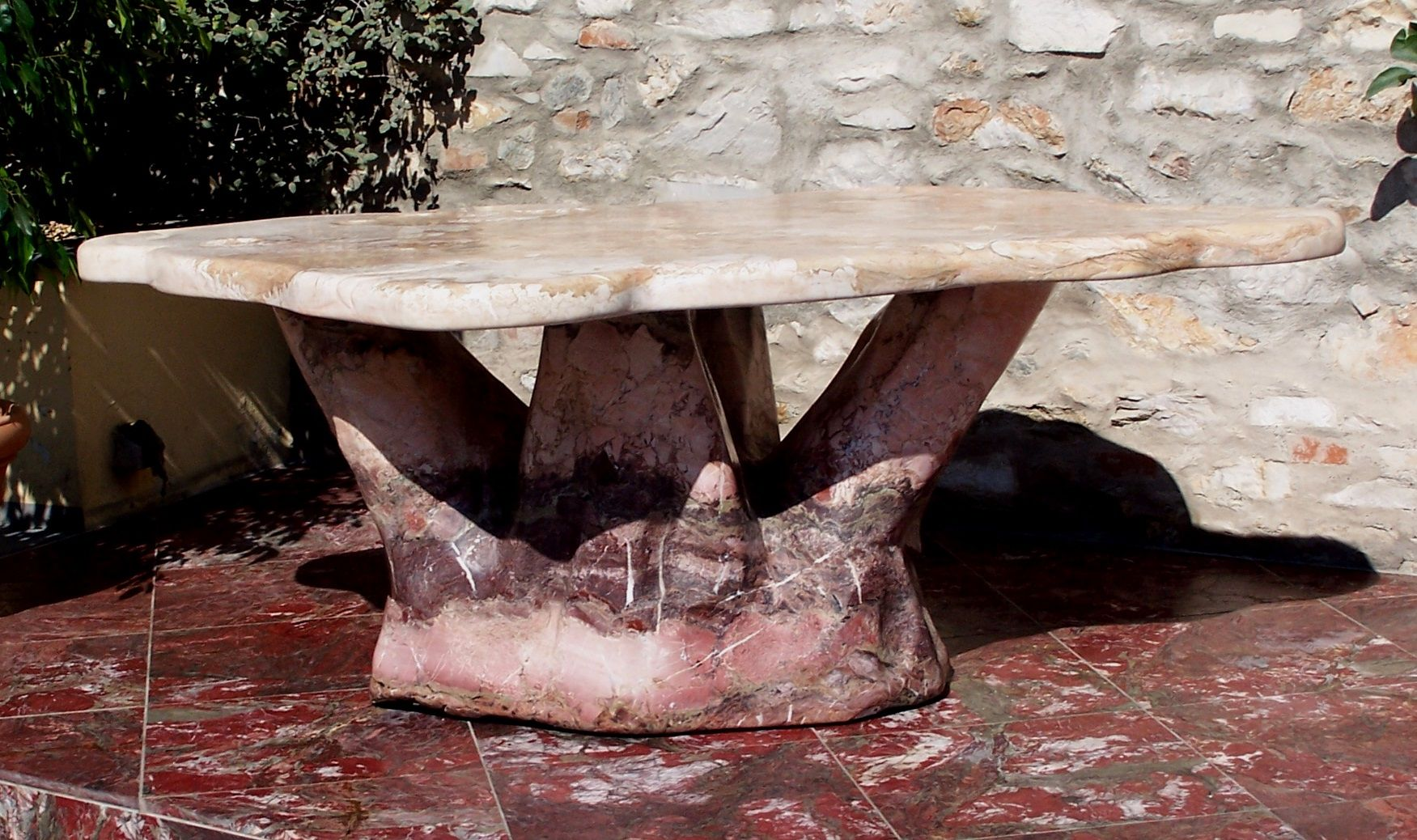 Beautiful Breccia Medicea Table: Marble Art by #PaoliniMarble