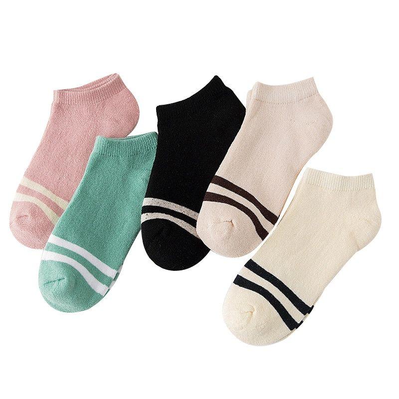 c2c8e3e375221 Socks Women Thick Velvet Ankle Socks Fluffy Cotton Casual Striped Spring  Fall Stripe Sports Fashion Comfortable Girl Short Sox