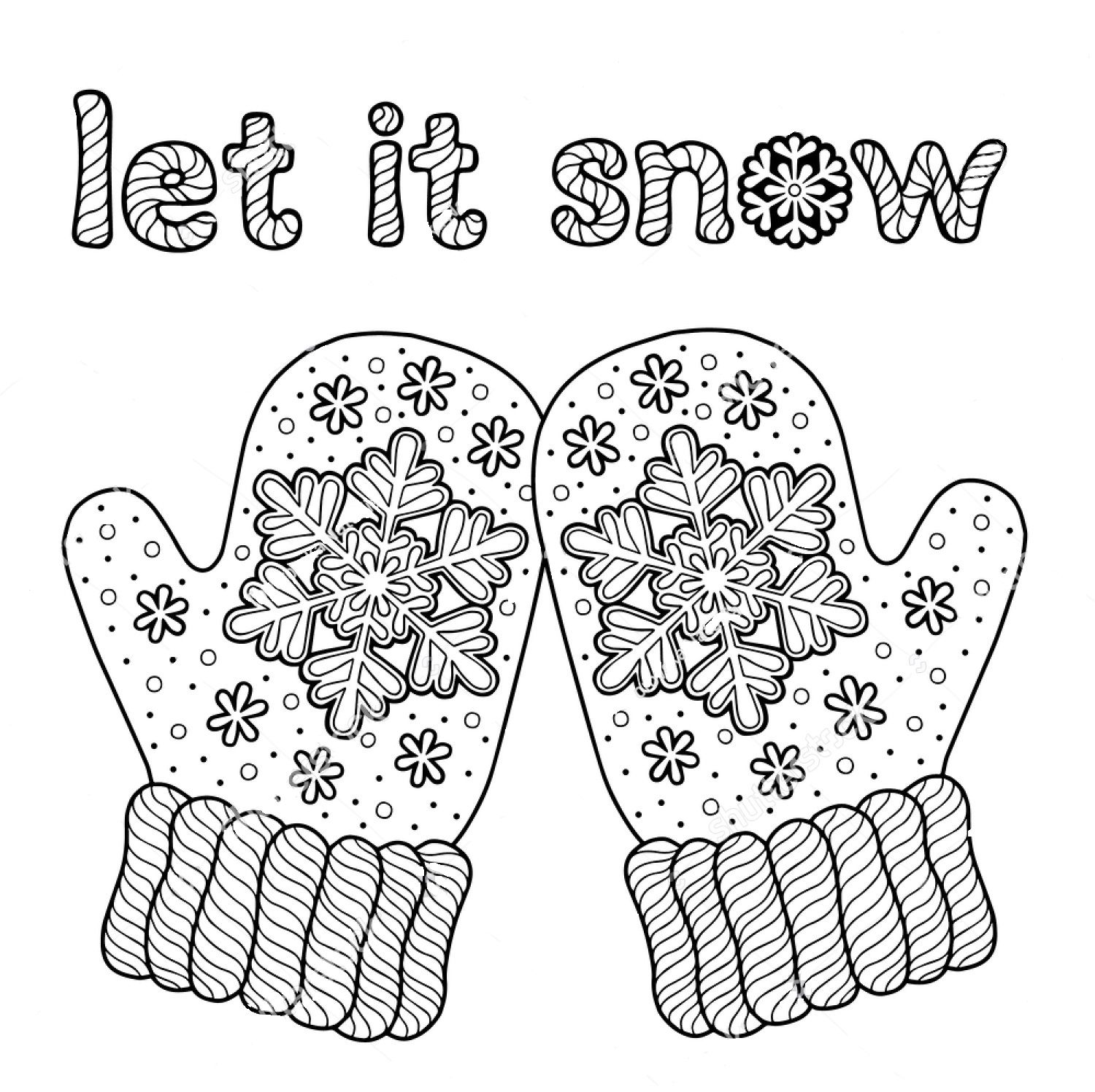 Winter Zentangle Coloring Pages Concept