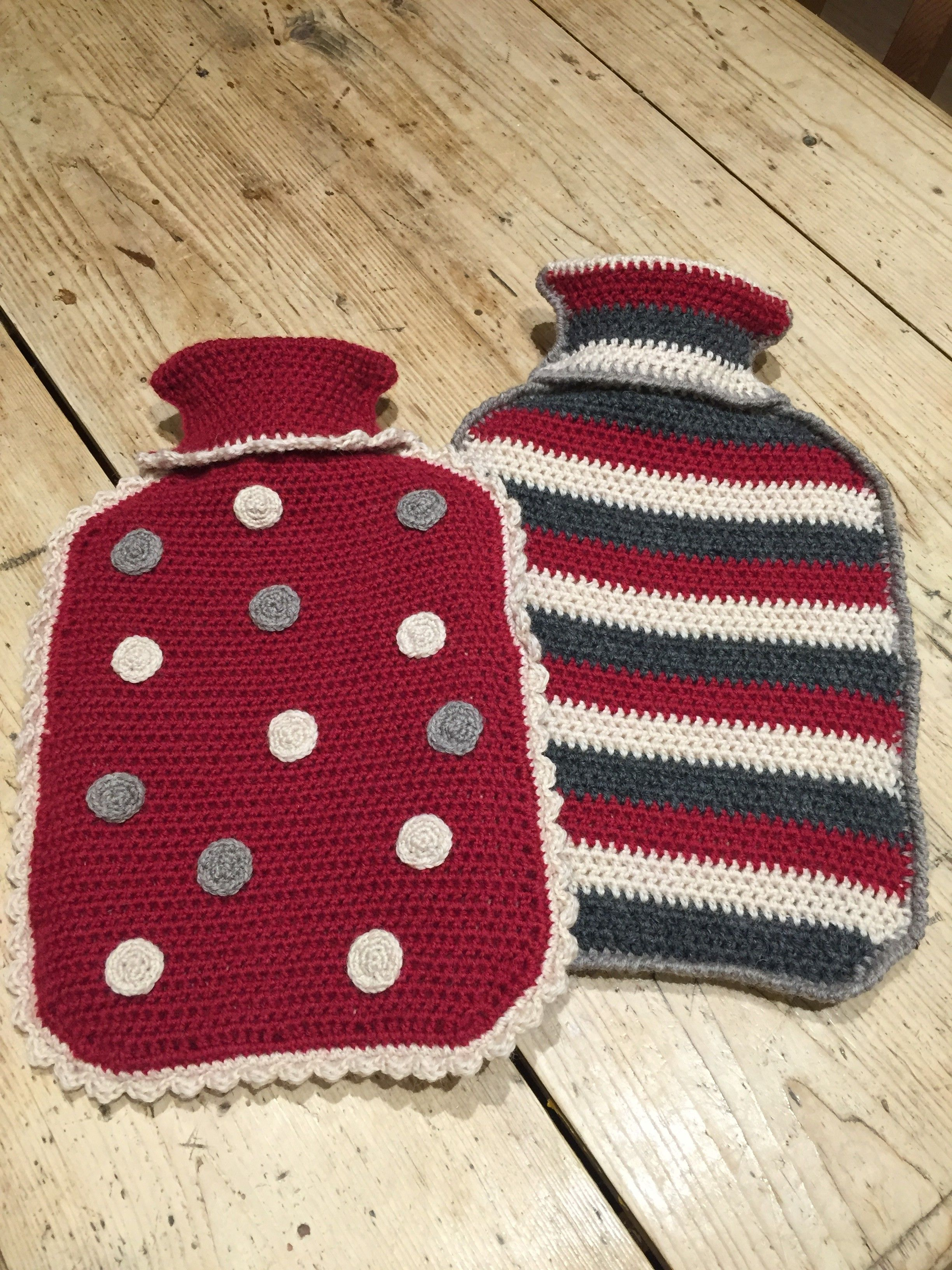 Crochet with Kate: Matching Hot Water Bottles | Water bottle covers ...