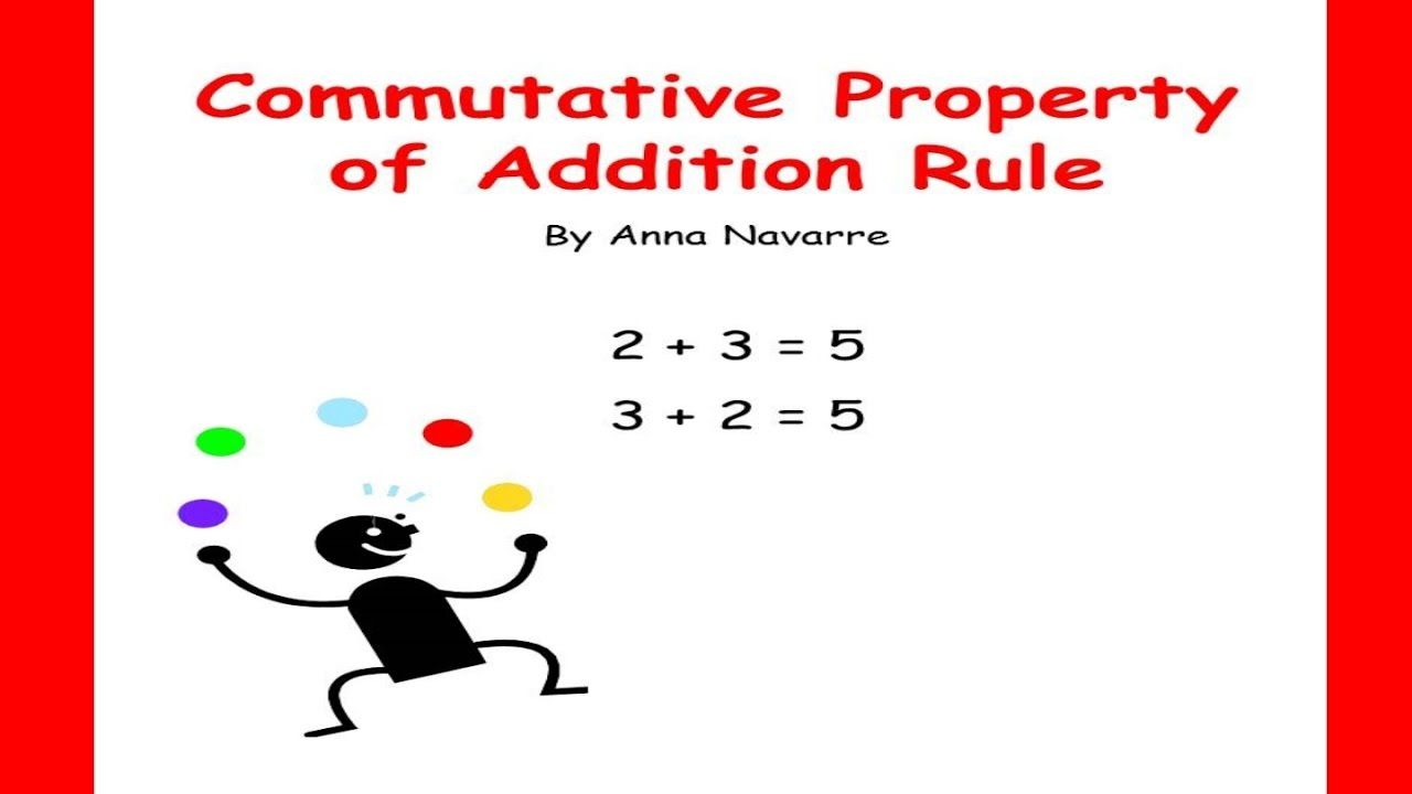 Commutative Property Of Addition This Is A Youtube Video To Help Students Understand The Commutative Commutative Property Properties Of Addition Commutative Commutative property of addition