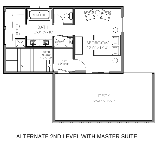 Small Master Bedroom Suite Plans | Small House Plan From $ 299 1269 Sq Ft  Contemporary