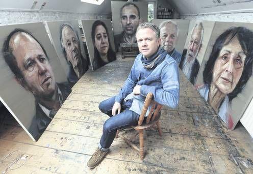 Colin Davidson in his Bangor studio