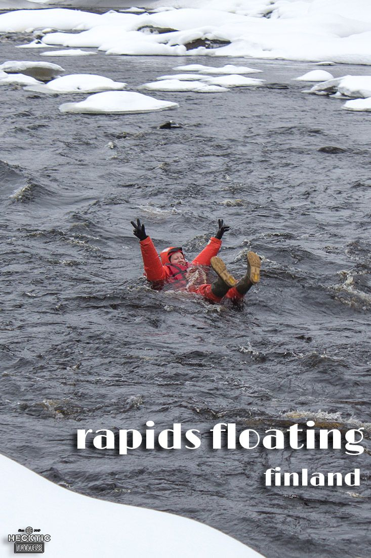 Floating Down Class Ii Rapids In February In Finland Europe