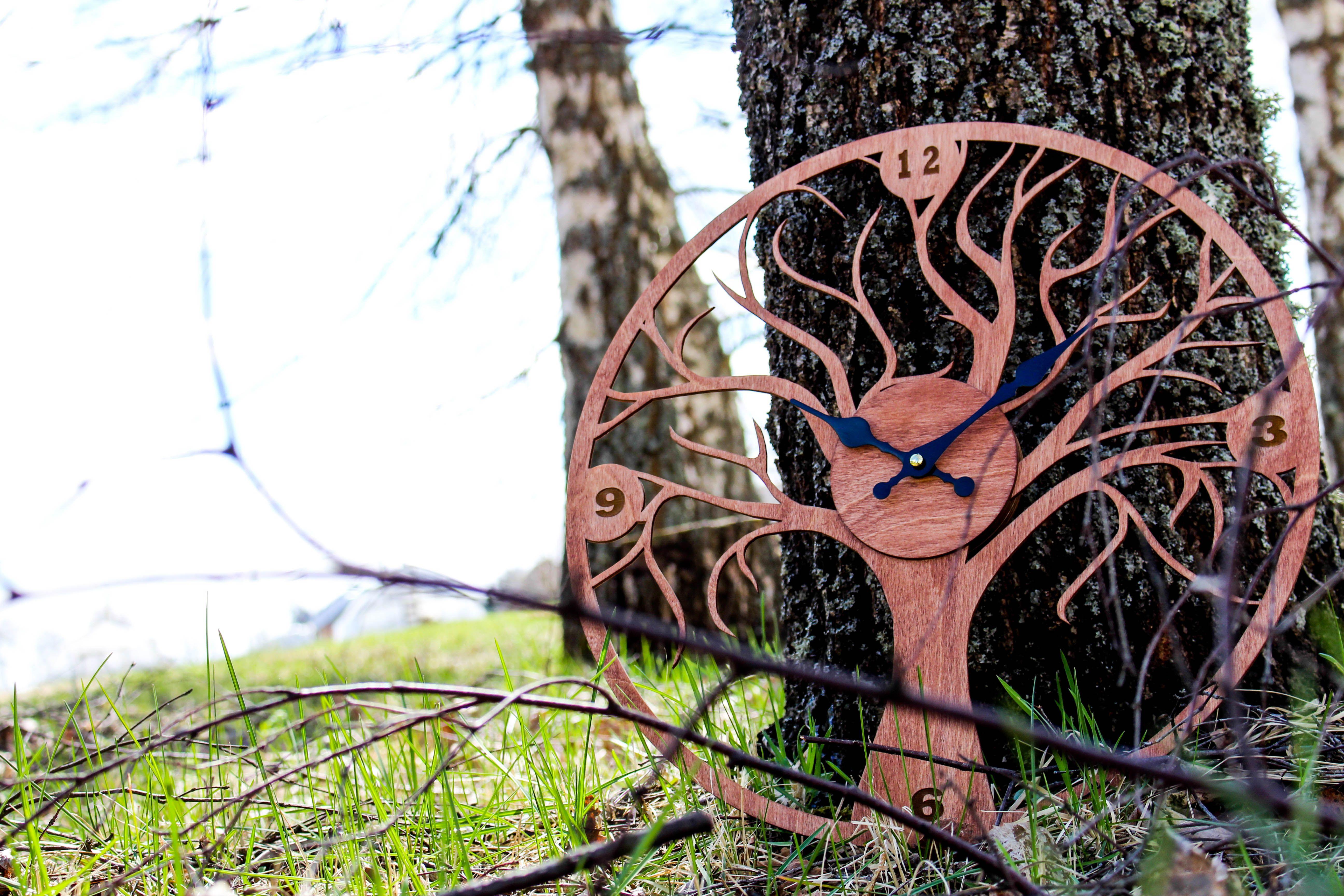 Wood clocklarge clock clock salekitchen clockdecorative wall