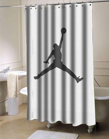 Basket Ball Air Jordan Jumpman Shower Curtain Curtains Shower