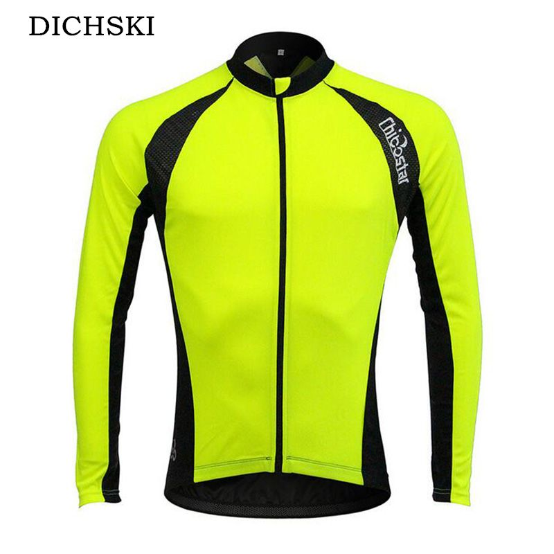 DICHSKI 2017 Men fall Cycling Jerseys Polyester Mesh cloth MTB Bike Bicycle  Outdoor Sport Running Jersey e8f996693