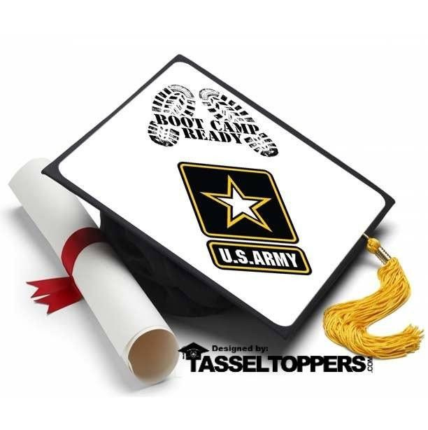 Armed Ready To Serve: Army Boot Camp Ready Grad Cap Tassel Topper