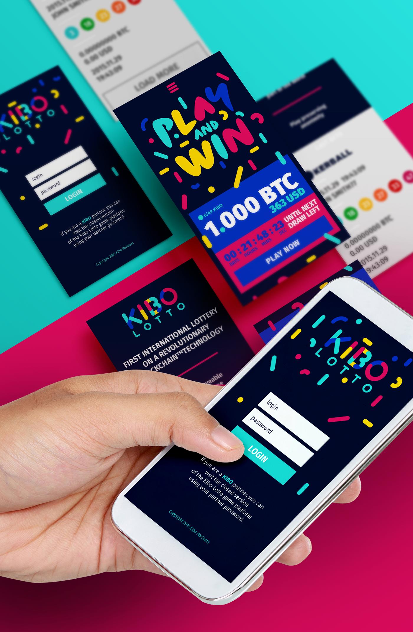 Branding for first international lottery based on blockchain
