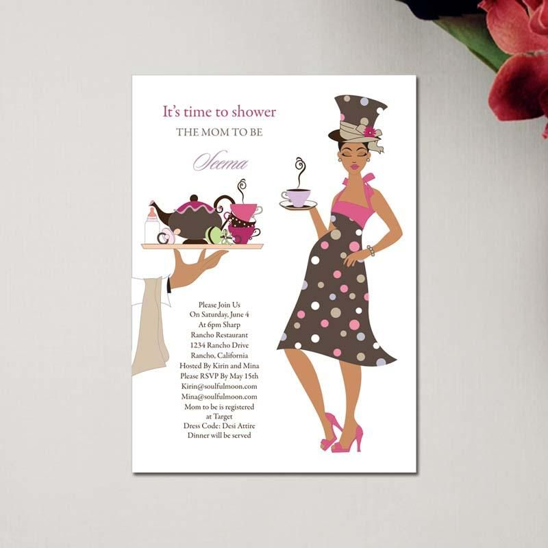Indian Baby Shower Invitations High Tea Mommy Baby Shower