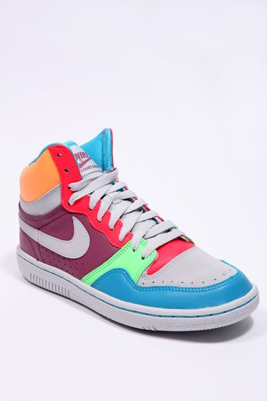 3. Most colorful high tops 80s style Neon high top