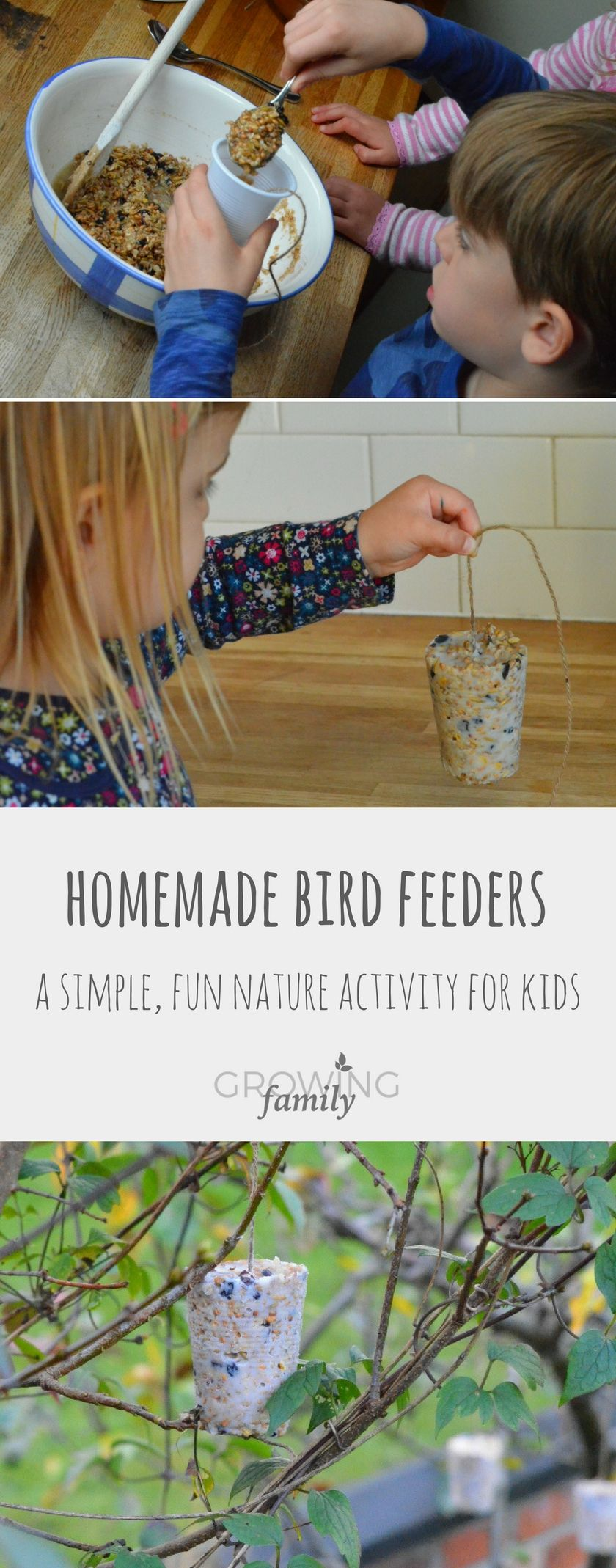 How to make homemade bird feeders - Growing Family