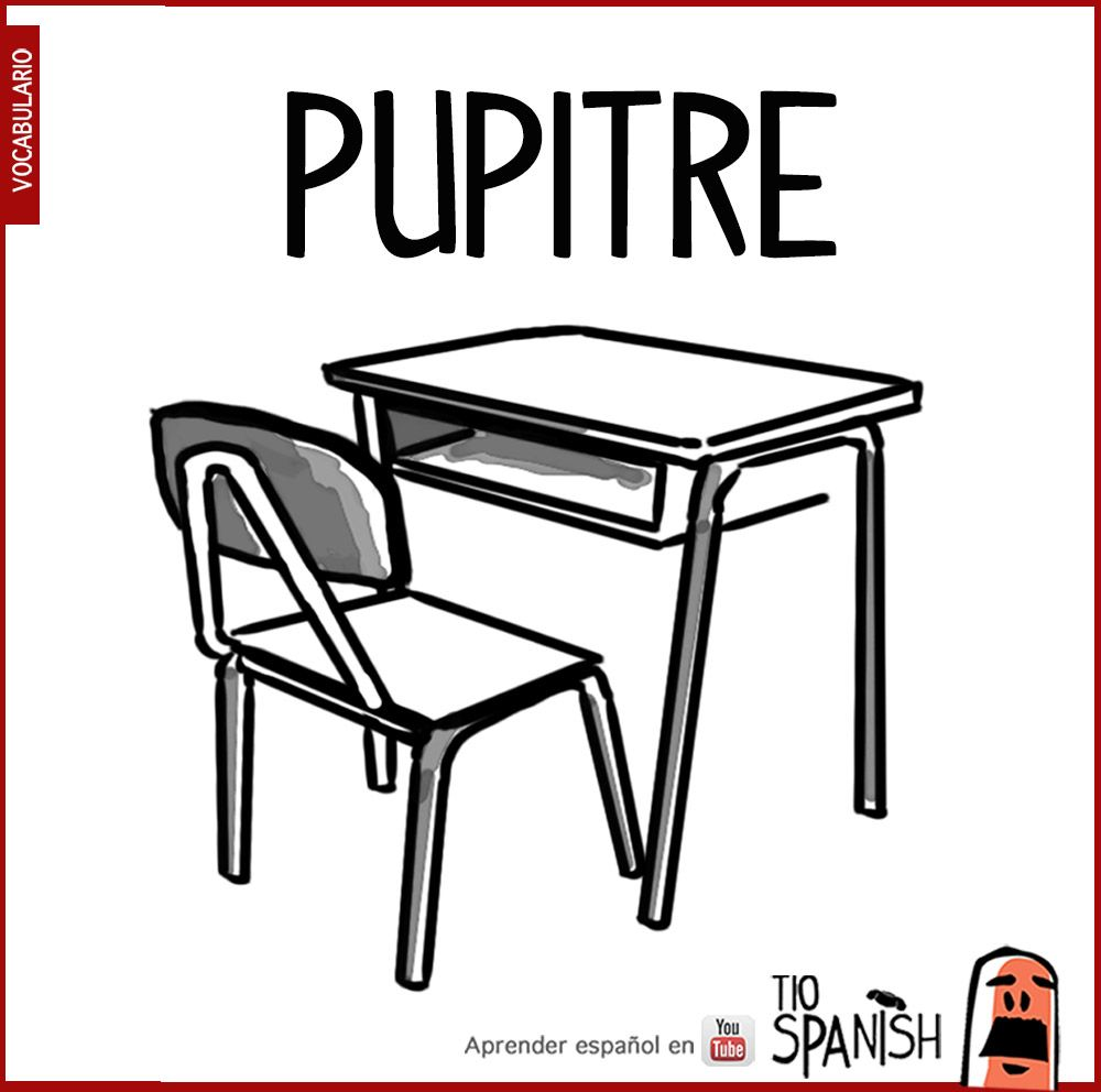 Image result for the word pupitre