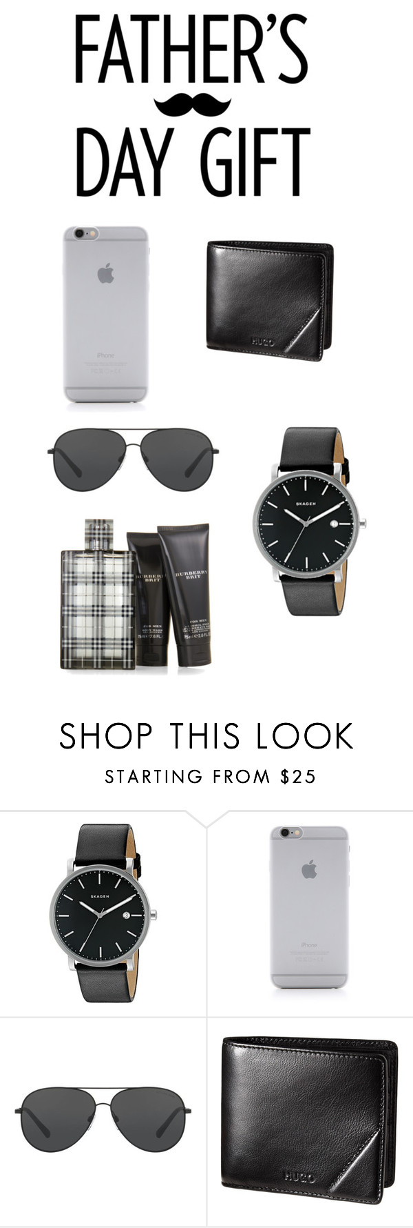"""Untitled #106"" by claudoral ❤ liked on Polyvore featuring Skagen, Native Union, Michael Kors, Burberry, men's fashion, menswear and fathersdaygiftguide"