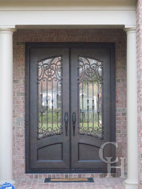 Iron Double Door Clark Hall Iron Doors Charlotte Nc Doors