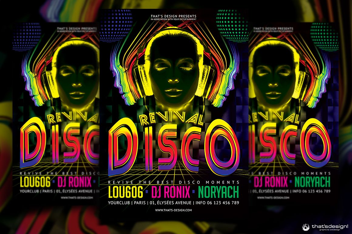 Disco Revival Flyer Template Psd Design For Photoshop V  Flyer