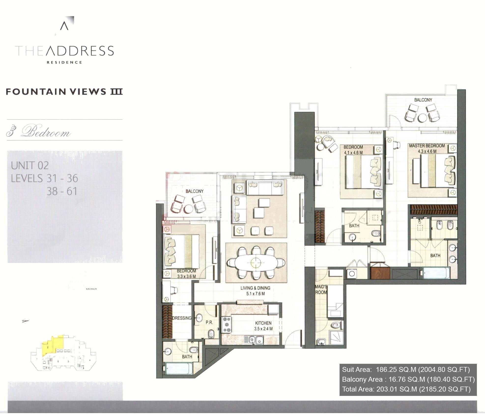The Address Residence Floor Plans Downtown Dubai Floor Plans Residences Pent House