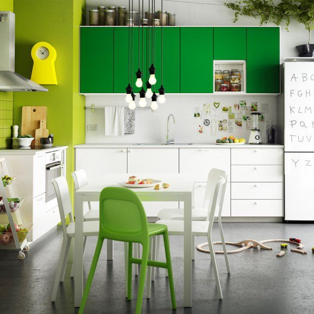 cuisine verte nos plus beaux mod les cuisine verte cuisiner healthy et cuisine ikea. Black Bedroom Furniture Sets. Home Design Ideas
