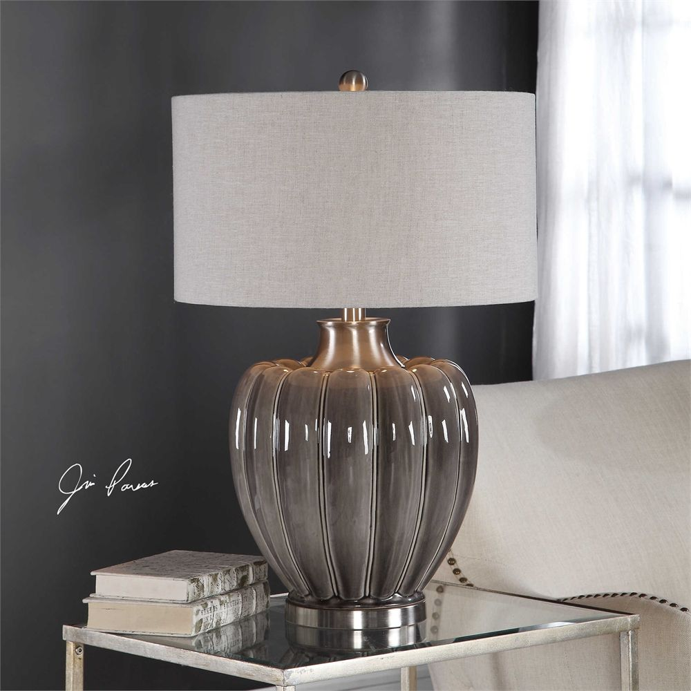Uttermost Adler Smoky Gray Table Lamp Grey Table Lamps Table Lamp Lamp