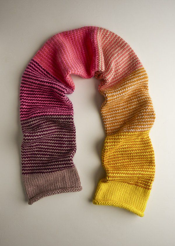 Stripey Tube Scarf Awesome Free Knitting Patterns Pinterest