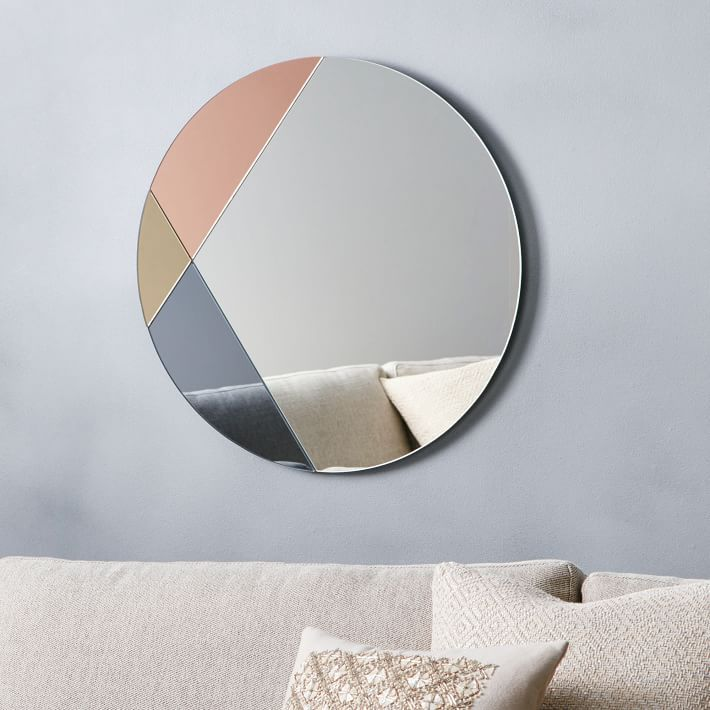 Round Tinted Glass Mirror From West Elm Tinted Mirror Cool