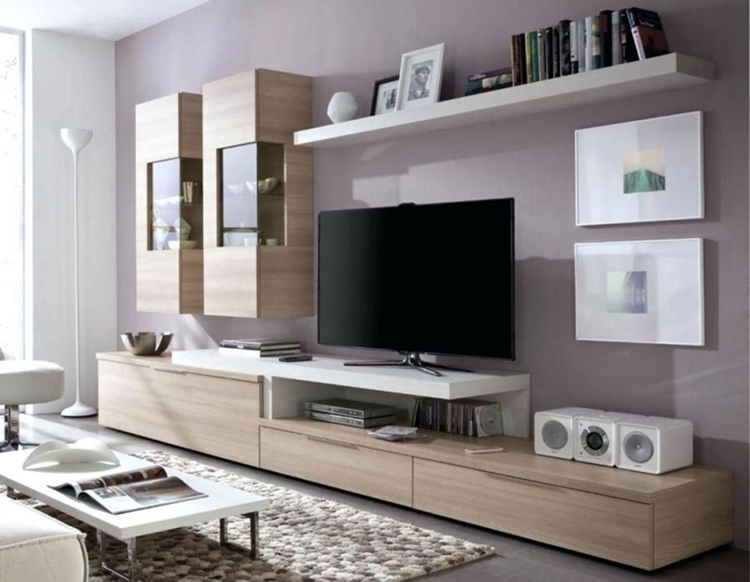 35 Elegant Contemporary Living Room Shelf Design To Make
