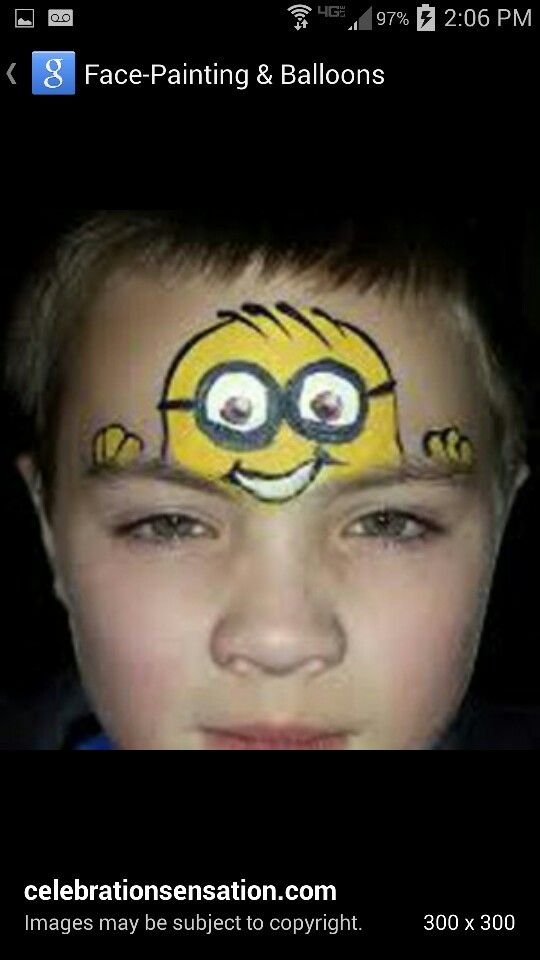 Minion Face Paint Einfache Gesichtsmalerei Kinderschminken Kinder Schminken